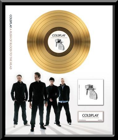 "Coldplay - ""A Rush of Blood to the Head"" Gold LP"