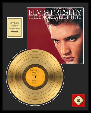 "Elvis Presley - ""The 50 Greatest Hits"" Gold LP"