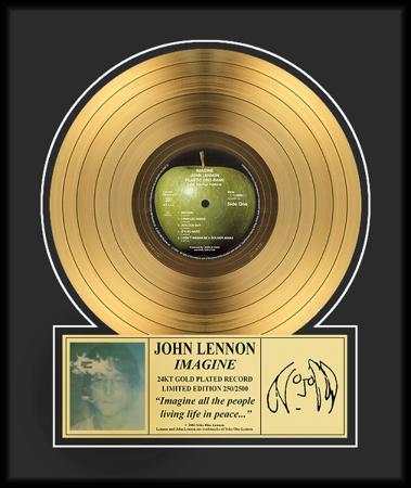 """John Lennon - """"Imagine"""" Gold LP"""