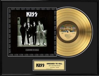 """KISS - """"Dressed To Kill"""" Gold LP"""