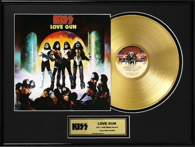 """KISS - """"Love Gun"""" Gold LP"""