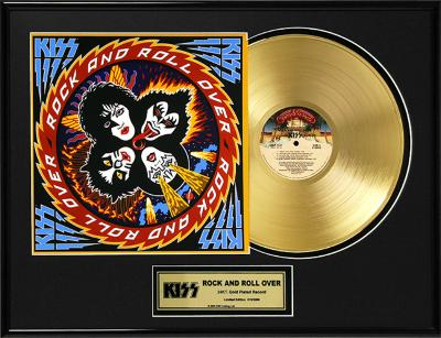 """KISS - """"Rock And Roll Over"""" Gold LP"""