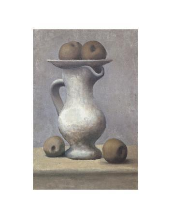 Still Life with Pitcher and Apple