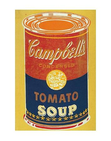 Colored Campbell's Soup Can, c.1965 (yellow & blue)