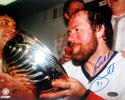 Billy Smith - Stanley Cup Drink Autographed Photo (Hand Signed Collectable)