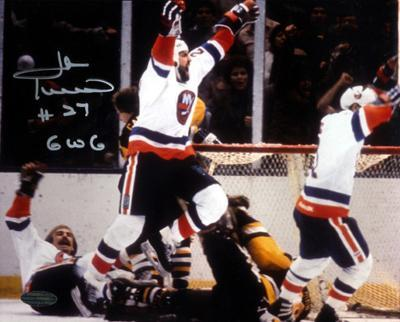 John Tonelli Autographed Game Winning Goal Photograph