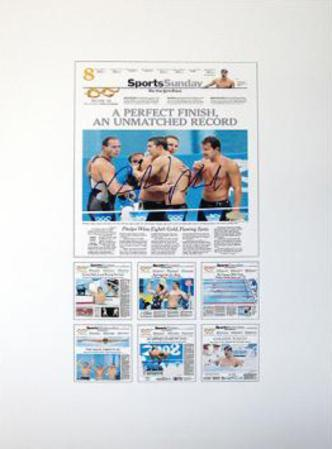 Michael Phelps - New York Times Exclusive Collage Autographed Photo (Hand Signed Collectable)