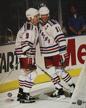Adam Graves & Mark Messier Dual Celebration Autographed Photo (Hand Signed Collectable)
