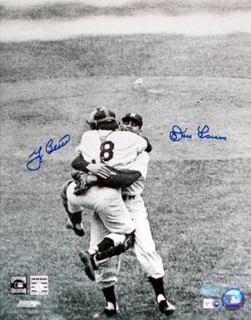 Yogi Berra & Don Larsen Autographed Photograph