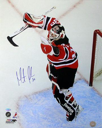Martin Brodeur Autographed 552nd Win Vertical Photograph