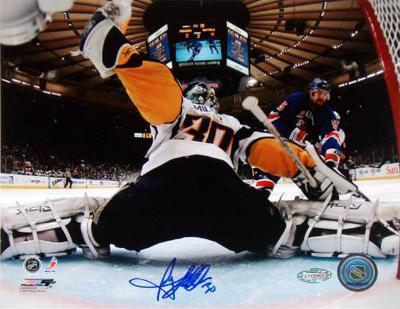 Ryan Miller Game 6 Buffalo Sabres Vs. New York Rangers Autographed Photo (Hand Signed Collectable)