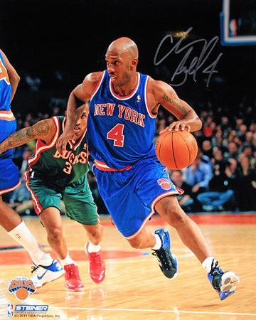 Chauncey Billups New York Knicks Dribble Up Court Autographed Photo (Hand Signed Collectable)