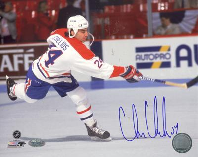 Chris Chelios Canadiens Slap Shot Autographed Photo (Hand Signed Collectable)