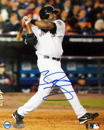 Cliff Floyd Two Run Home Run Vs. Atlanta Autographed Photo (Hand Signed Collectable)