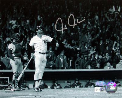 Chris Chambliss Autographed ALCS Game Winner HR B&W Horizontal Photograph (MLB Auth)