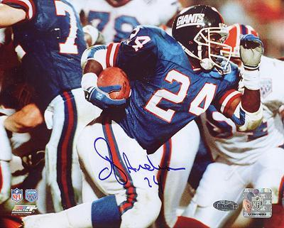 OJ Anderson Super Bowl XXV Rushing Autographed Photo (Hand Signed Collectable)