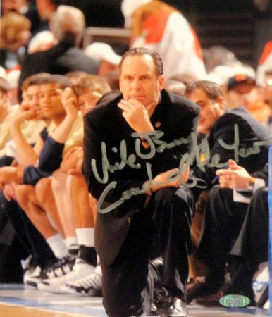 """Mike Brey """"Coach of the Year"""" Signed by Mitchell Layton Autographed Photo (Hand Signed Collectable)"""