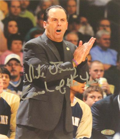 """Mike Brey """"Coach of the Year"""" Signed by Matt Cashore Autographed Photo (Hand Signed Collectable)"""