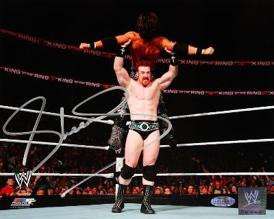Sheamus Lifting A Man Autographed Photo (Hand Signed Collectable)