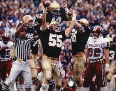 Mike Golic Notre Dame Autographed Photo (Hand Signed Collectable)