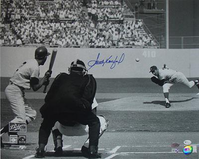 Sandy Koufax 65 WS Game 5 First Pitch Autographed Photo (Hand Signed Collectable)