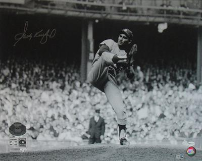 Sandy Koufax 63 WS Game 1 Wind-Up Autographed Photo (Hand Signed Collectable)