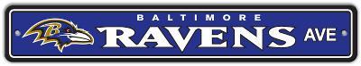 NFL Baltimore Ravens Street Sign