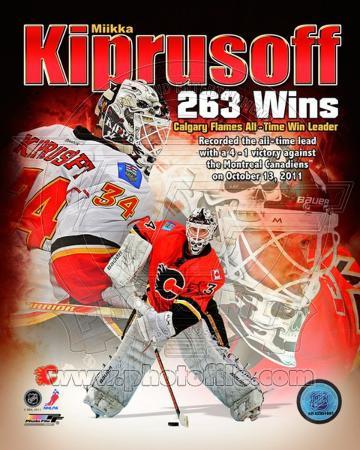 Miikka Kiprusoff Calgary Flames All-Time Wins Leader Composite