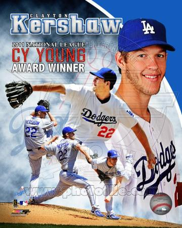 Clayton Kershaw 2011 NL Cy Young Winner Portrait Plus
