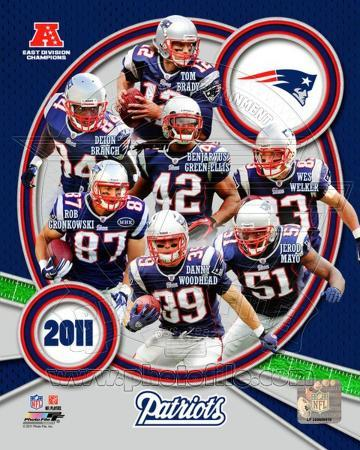 New England Patriots 2011 AFC East Division Champions Composite