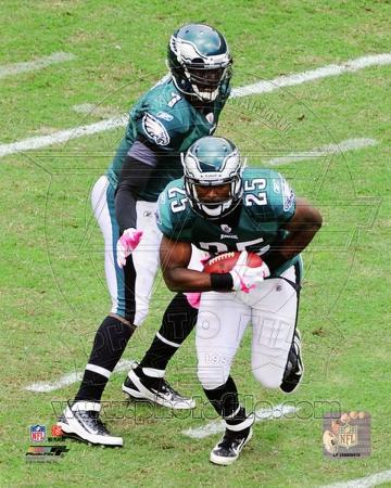 LeSean McCoy & Michael Vick 2011 Action