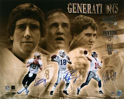 Manning Generations Triple Signed Collage