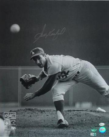 Sandy Koufax 65 WS Pitching Autographed Photo (Hand Signed Collectable)