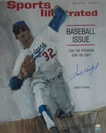 Sandy Koufax Sports Illustrated Baseball Issue Cover Autographed Photo (Hand Signed Collectable)