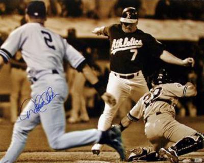 Derek Jeter Flip Play Sepia Tone (MLB Auth)