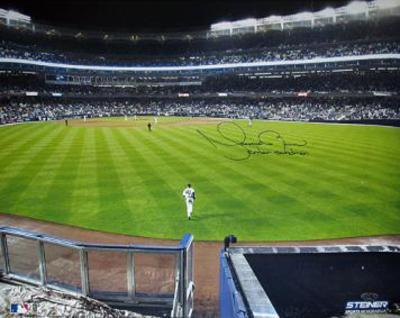"Mariano Rivera Entering The Game Wide Angle View of Field w/ "" Enter Sandman"" Insc."