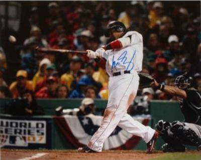 Manny Ramirez 2007 World Series Swing Autographed Photo (Hand Signed Collectable)