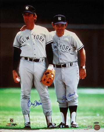 Graig Nettles w/ Yogi Berra Dual Signed (MLB Auth) Autographed Photo (Hand Signed Collectable)