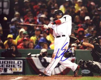 Manny Ramirez 2007 WS Game 1 RBI Single Autographed Photo (Hand Signed Collectable)