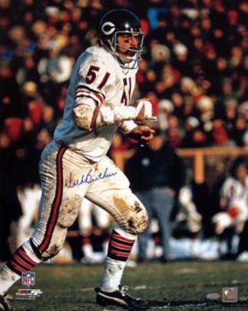 Dick Butkus Chicago Bears White Jersey