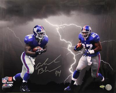 Ahmad Bradshaw Lightning Collage Autographed Photo (Hand Signed Collectable)