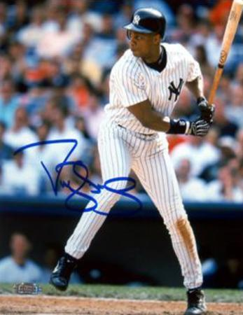 Darryl Strawberry NY Yankees Batting (MLB Auth) Autographed Photo (H& Signed Collectable)