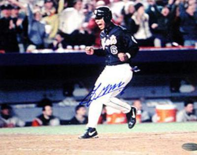Melvin Mora Mets Crossing the Plate Autographed Photo (Hand Signed Collectable)