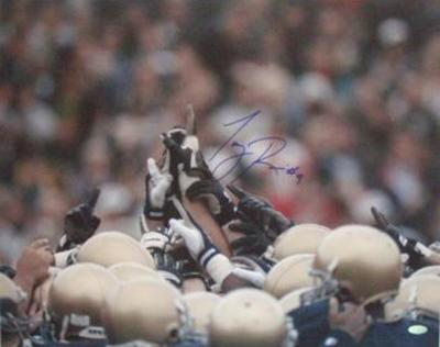 Tony Rice Notre Dame Players Pointing 1 Autographed Photo (Hand Signed Collectable)