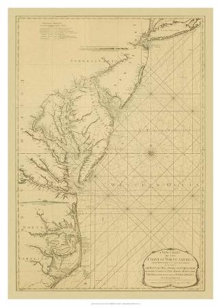 Coastal Chart of the East Coast