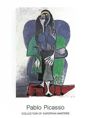 Femme Assise A L'echarpe Verde, c.1960