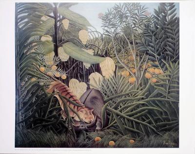 The Jungle, Tiger Attacking a Buffalo