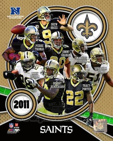 New Orleans Saints 2011 NFC South Division Champions Team Composite