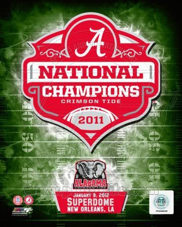 University of Alabama Crimson Tide 2012 BCS National Champions Team Logo