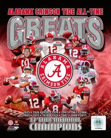 University of Alabama Crimson Tide All Time Greats Composite